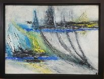 Gelb, Abstrakte kunst, Gemälde, Grau