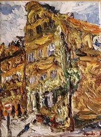 Haus lüneburg, Ölmalerei, Malerei, Haus