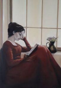Auszeit, Gelb, Frau, Lesen
