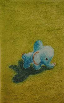 Porzellan, Pastellmalerei, Elefant, Malerei