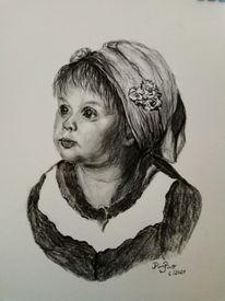 Studie, Mädchen, Zeichnungen