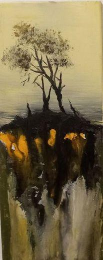Abbruch, Natur, Baum, Abgrund