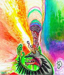 Psychedelisch, Farben, Malerei, Traum