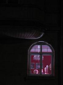 Rot, Architektur, Nachtaufnahme, Langzeitbelichtung