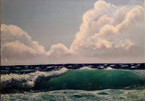 Küste, Landschaft, Welle, Wind