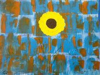 Acrylmalerei, Abstrakt, Blumen, Malerei