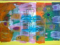 Abstrakte malerei, Fantasie, Malerei,