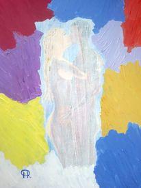 Abstrakte malerei, Akt, Malerei, Paar