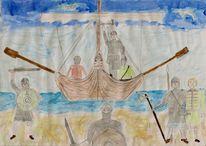 Wiking, Kettenhemd, Wasser, Schiff