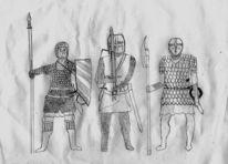Schwert, Geschichte, Speer, Schild