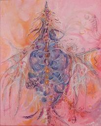 Rosa, Malerei, Blau, Abstrakt