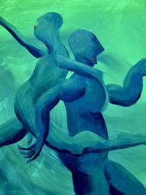 Erotik, Bewegung, Beziehung, Malerei
