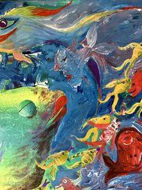 Malerei, Fische, Meer, Farben