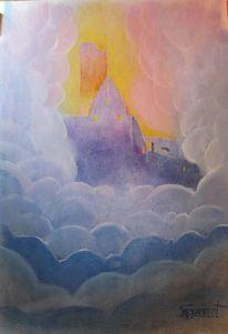 Wolken, Licht, Fantasie, Scherenburg