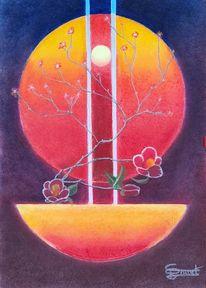 Licht, Sphäre, Blumen, Ikebana