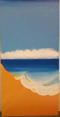 Horizont, Strand, Ocker, Blau