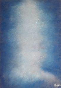 Licht, Nebel, Blau, Malerei