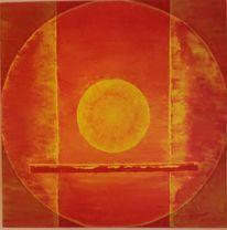 Sonne, Feuer, Kreis, Malerei