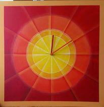 Segment, Rot, Gelb, Kreis