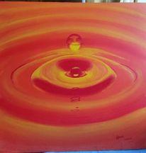 Tropfen, Malerei, Wasser, Rot
