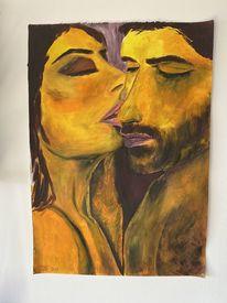 Zärtlichkeit, Mann, Abstrakt, Abstrakte kunst