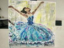 Gemälde, Ballerina, Jugendzimmer, Malerei