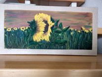 Sonne, Sonnenblumen, Liebe, Malerei