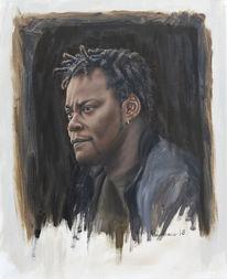 Ölmalerei, Portrait, Fotorealismus, Menschen