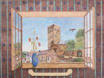Pixelart, Fadobild, Ruine, Burg blankenstein