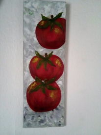 Rot, Pflanzen, Malerei