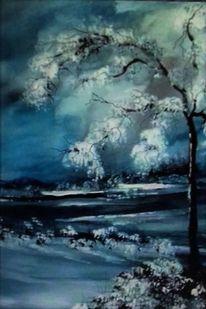 Himmel, Wolken, Schnee, Baum