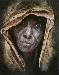 Pastellmalerei, Alte frau, Portrait, Zeichnungen