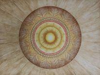 Ureinwohner hawaiis, Aquarellmalerei, Mandala, Indigen