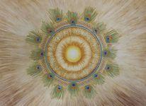 Feder, Aquarellmalerei, Mandala, Pfauenfedern