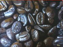 Braun, Kaffee, Bohne, Malerei