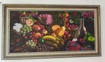 Obst, Stillleben, Bunt, Malerei