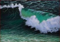 Wasser, Welle, Acrylmalerei, Gischt