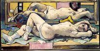 Ölmalerei, Akt, Malereiköln, Menschen
