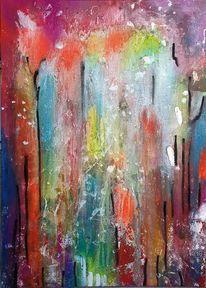 Frei, Bunt, Abstrakt, Malerei