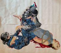 Frankreich, Frau, Gewalt, Polizei