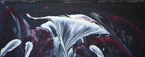 Malerei, Acrylmalerei, Abstrakt, Lilie