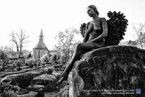Fotografie, Körperkunst, Friedhof, Schwarzweiß