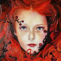Rotschopf, Portrait, Folklore, Ölmalerei