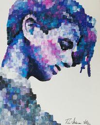 Malerei, Portrait, Acrylmalerei, Menschen