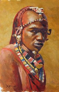 Afrika, Tansania, Portrait, Massai
