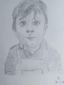 Schwarz, Portrait, Zeichnungen