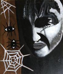 Augen, Gesicht, Spinne, Malerei