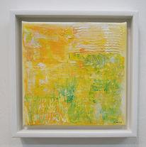Acrylmalerei, Abstrakt, Gelb, Malerei