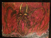 Untergang, Dämon, Monster, Acrylmalerei