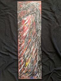 Feuer, Acrylmalerei, Holz, Vogel